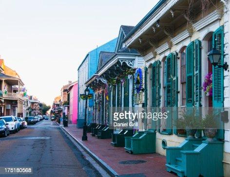 USA, New Orleans, Louisiana, View of narrow street