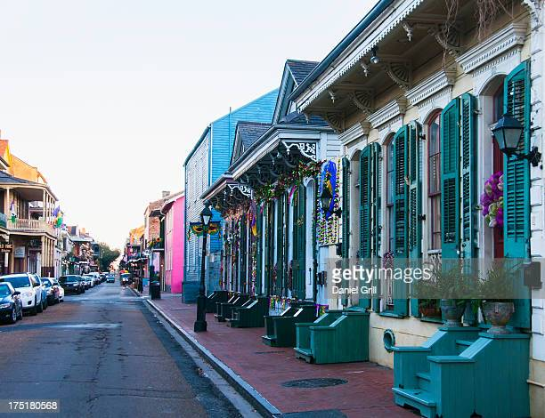 USA, New Orleans, Louisiana, View of narrow street