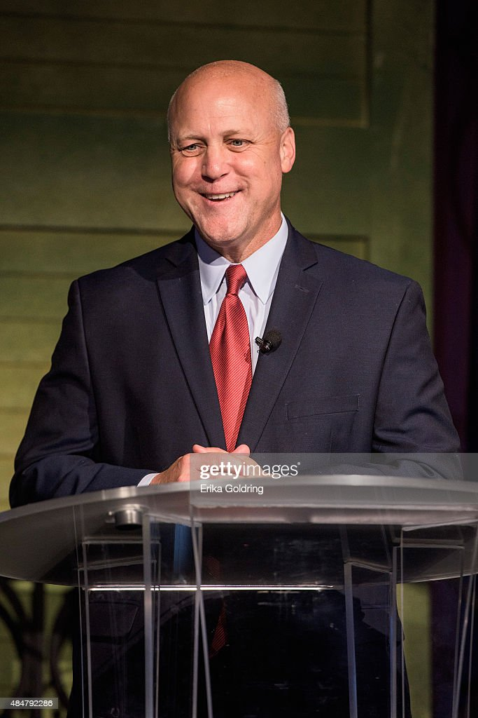 New Orleans Mayor <a gi-track='captionPersonalityLinkClicked' href=/galleries/search?phrase=Mitch+Landrieu&family=editorial&specificpeople=626024 ng-click='$event.stopPropagation()'>Mitch Landrieu</a> speaks at the 'Before.During.After' forum press conference commemorating the 10th Anniversary of Hurricane Katrina to support disaster recovery and resiliency efforts wordlwide on August 21, 2015 in New Orleans, United States.