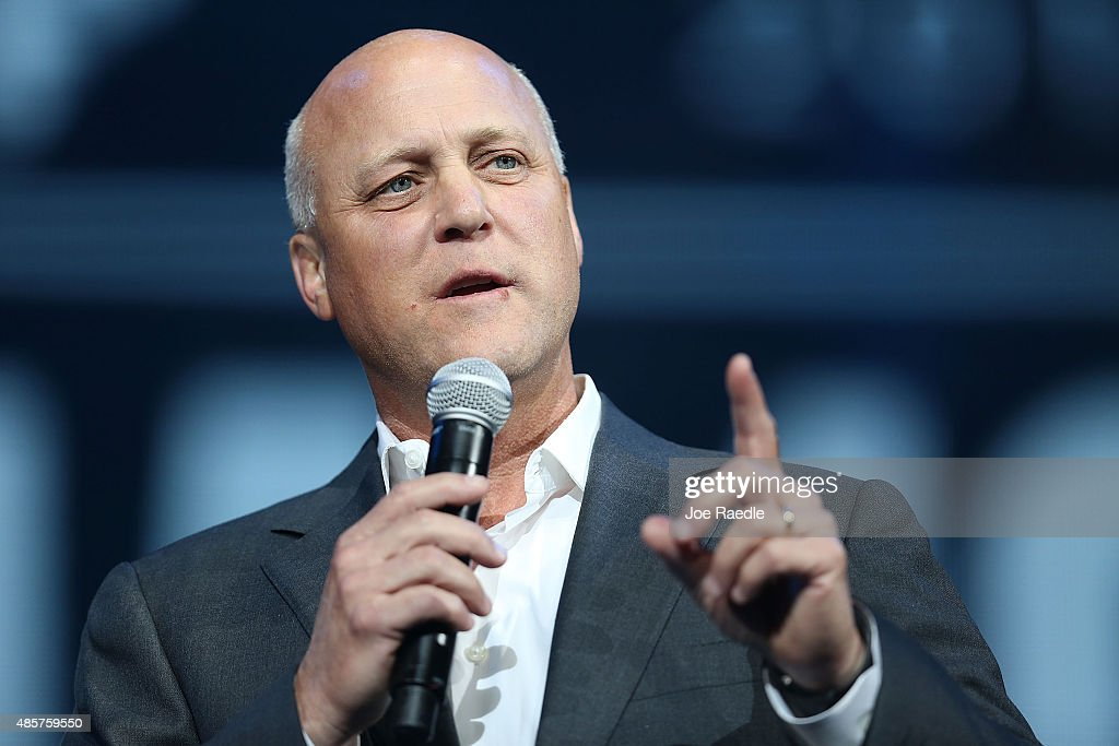 New Orleans Mayor <a gi-track='captionPersonalityLinkClicked' href=/galleries/search?phrase=Mitch+Landrieu&family=editorial&specificpeople=626024 ng-click='$event.stopPropagation()'>Mitch Landrieu</a> speaks during a Hurricane Katrina 10th anniversary event at the Smoothie King Center on August 29, 2015 in New Orleans, Louisiana. Hurricane Katrina killed at least 1836 people and is considered the costliest natural disaster in U.S. history.