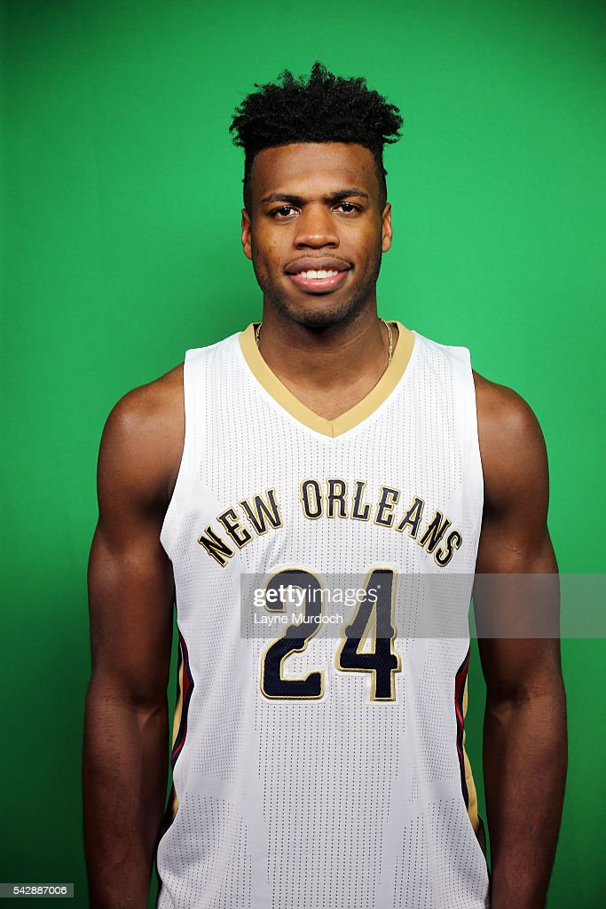 New Orleans Pelicans 2016 Draft selection <a gi-track='captionPersonalityLinkClicked' href=/galleries/search?phrase=Buddy+Hield&family=editorial&specificpeople=9988395 ng-click='$event.stopPropagation()'>Buddy Hield</a> poses for a portrait on June 24, 2016 at the New Orleans Practice Facility in New Orleans, Louisiana.