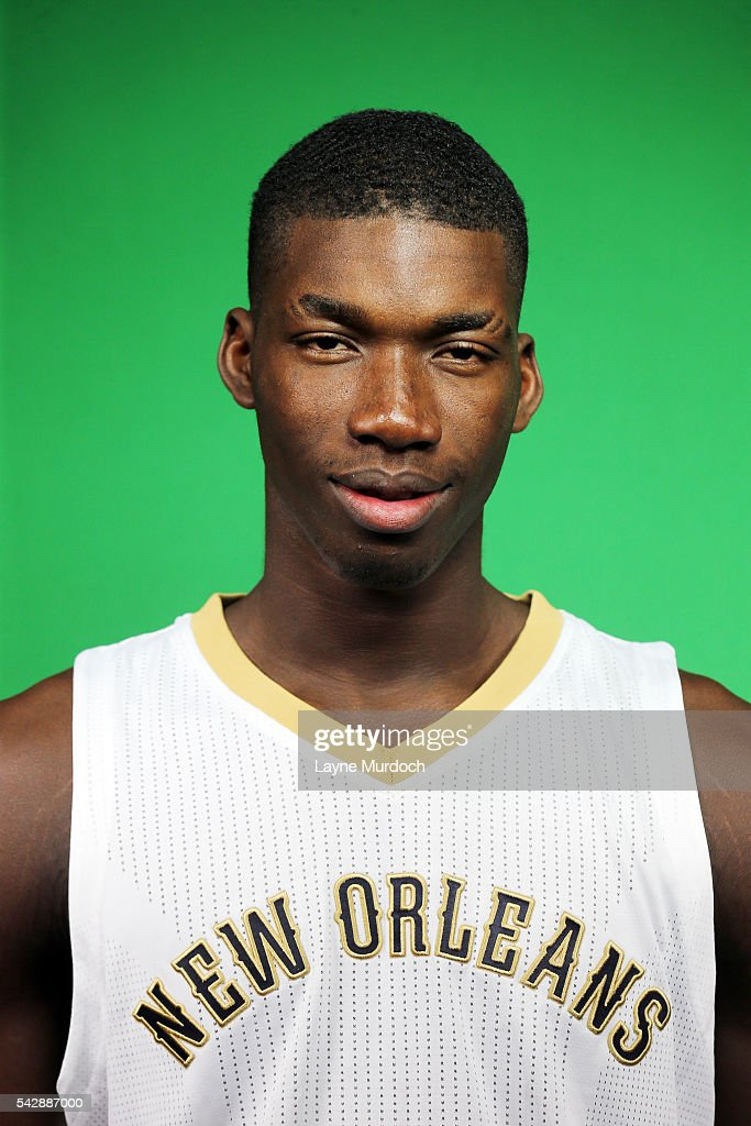 New Orleans Pelicans 2016 Draft selection <a gi-track='captionPersonalityLinkClicked' href=/galleries/search?phrase=Cheick+Diallo+-+Basketball+Player&family=editorial&specificpeople=14242656 ng-click='$event.stopPropagation()'>Cheick Diallo</a> poses for a portrait on June 24, 2016 at the New Orleans Practice Facility in New Orleans, Louisiana.