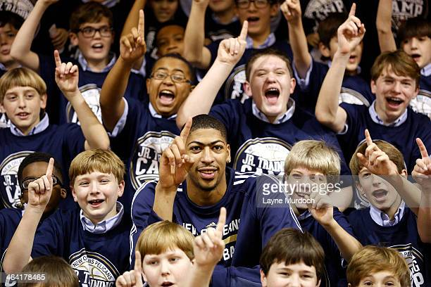 New Orleans Pelicans Anthony Davis and Austin Rivers joins Ochsner Health System Blue Cross Blue Shield Louisiana and Louisiana Campaign for...
