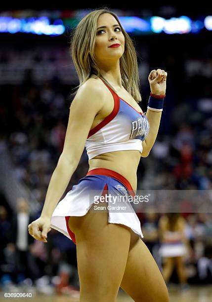 New Orleans Pelicans cheerleader performs during the second half at the Smoothie King Center on December 26 2016 in New Orleans Louisiana NOTE TO...