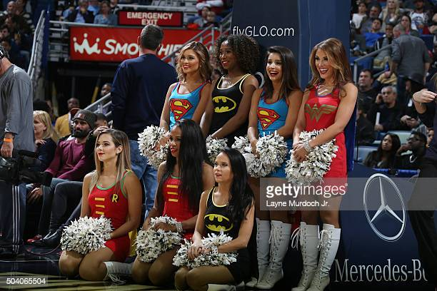 New Orleans Pelicans dance team is seen during the game against the Indiana Pacers during the game on January 8 2016 at the Smoothie King Center in...