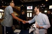 New Orleans Pelicans forward and NBA AllStar 2014 Jam Session Ambassador Anthony Davis participates in an NBA AllStar Jam Session Scavenger Hunt on...