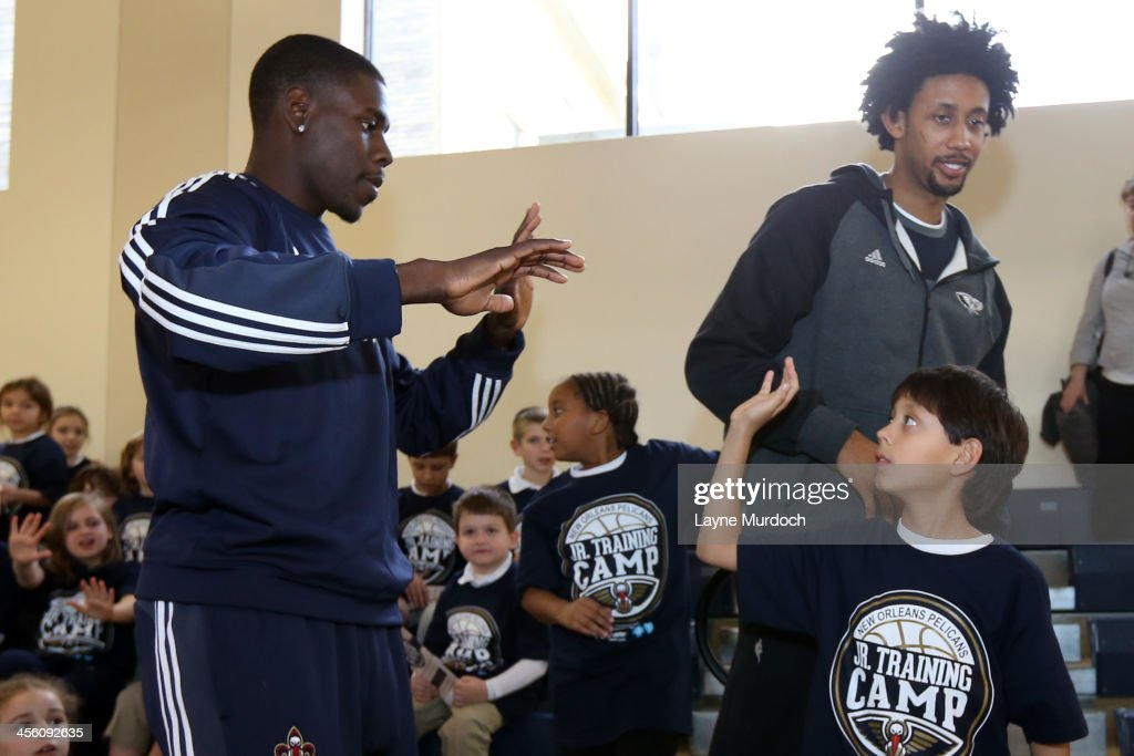 New Orleans Pelicans players Jrue Holiday and Josh Childress host a Pelicans Junior Training Camp encouraging students to be smoke and tobacco free...