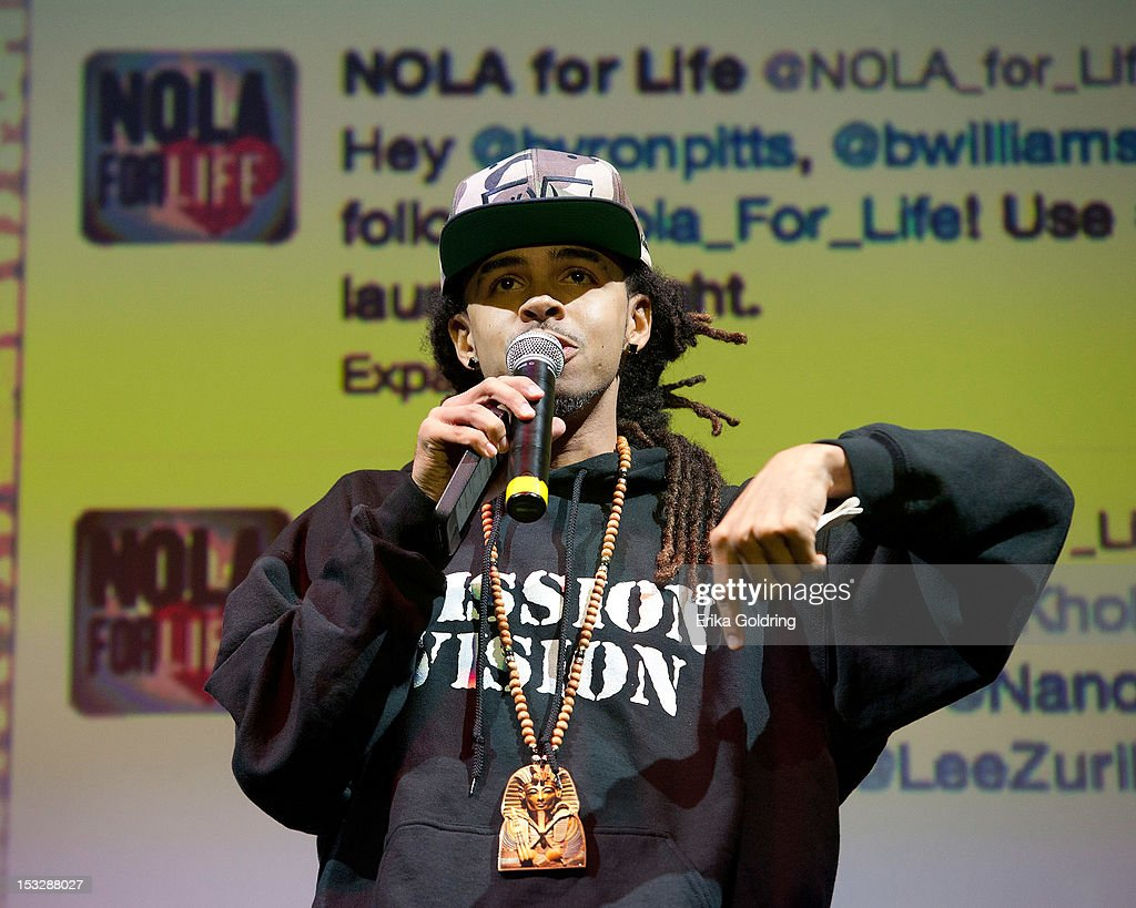 New Orleans rapper David Augustine aka Dee-1 attends the 'Flip the Script' Public Awareness campaign launch at The Joy Theater on October 2, 2012 in New Orleans, Louisiana.