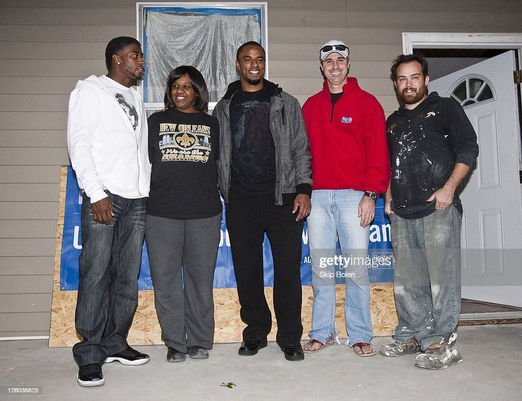 NFL New Orleans Saints player Roman Harper New Orleans home owner Toni Jones NFL New Orleans Saints player Darren Sharper Chief Operations Officer of...
