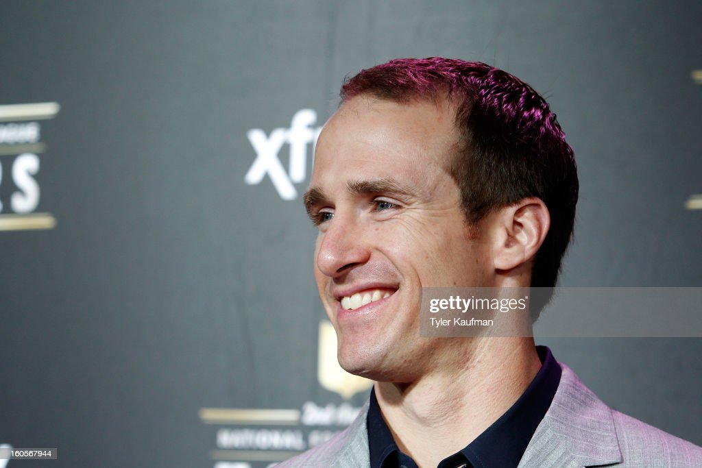 New Orleans Saints quarterback <a gi-track='captionPersonalityLinkClicked' href=/galleries/search?phrase=Drew+Brees&family=editorial&specificpeople=202562 ng-click='$event.stopPropagation()'>Drew Brees</a> attends the 2nd Annual NFL Honors at the Mahalia Jackson Theater on February 2, 2013 in New Orleans, Louisiana.