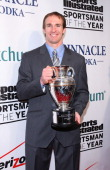 New Orleans Saints quarterback Drew Brees holds his Sports Illustrated Sportsman of the Year award at the 2010 Sports Illustrated Sportsman of the...