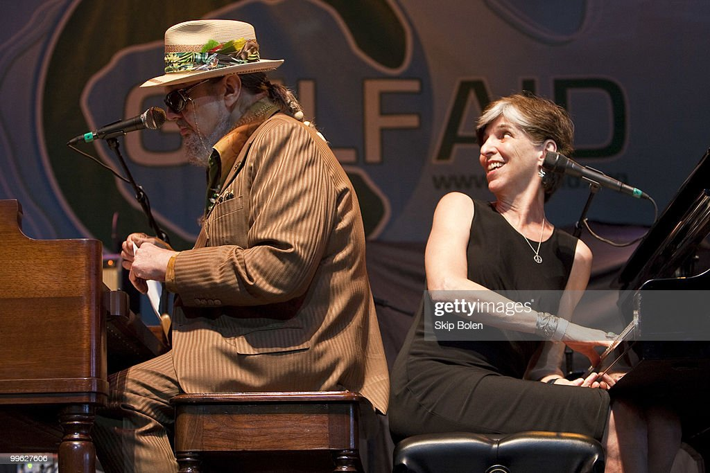 New Orleans singer/songwriter Dr. John (L) and Marcia Ball of The Voice Of The Wetlands Allstars perform at the GULF AID benefit concert at Mardi Gras World River City on May 16, 2010 in New Orleans, Louisiana.