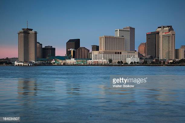 New Orleans, skyline and the Mississippi River