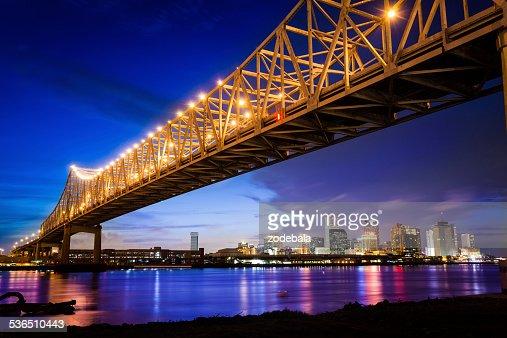 New Orleans Skyline at Night, Louisiana, USA