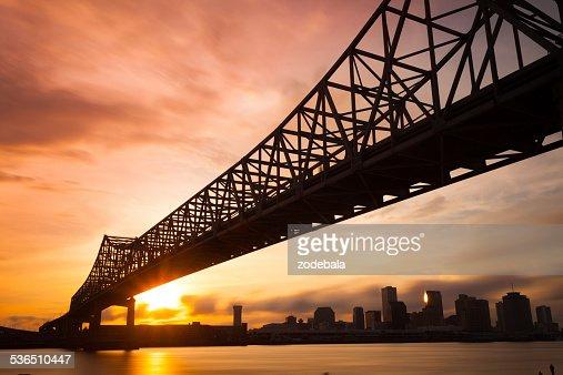 New Orleans Skyline at Sunset, Louisiana, USA