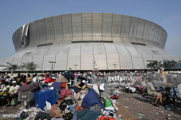 ... New Orleans 02 September 2005 The New Orleans sports arena that housed