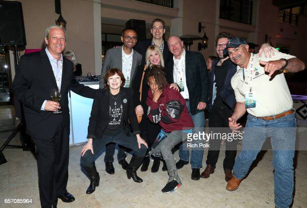 New Pacific Realty CEO and EMA board chair David Margulies actor/activist Frances Fisher SkyCool cofounder and CEO Aaswath Raman President/CEO of EMA...