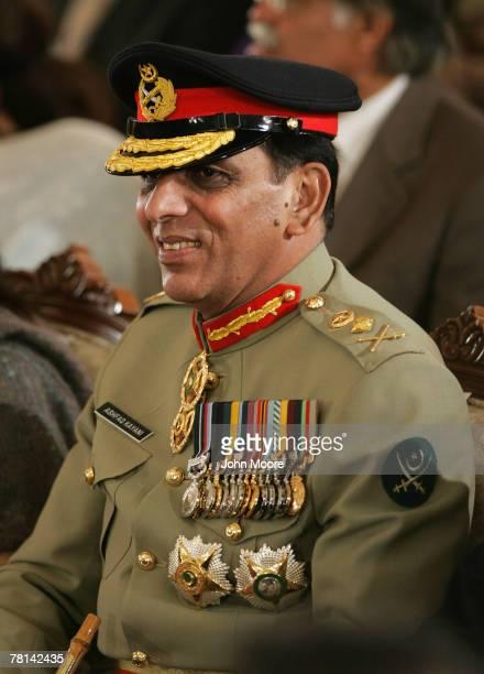 New Pakistani army chief Gen Ashfaq Kayani waits for President Pervez Musharraf to take the oath of office fiveyear term as a civilian president...