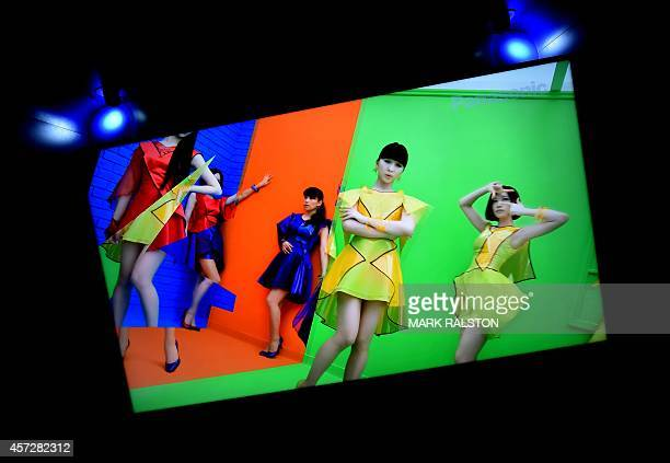 A new Panasonic 4K Ultra HD LED TV on display at the Luxury Technology Show in Beverly Hills on October 15 2014 4K televisions display a horizontal...