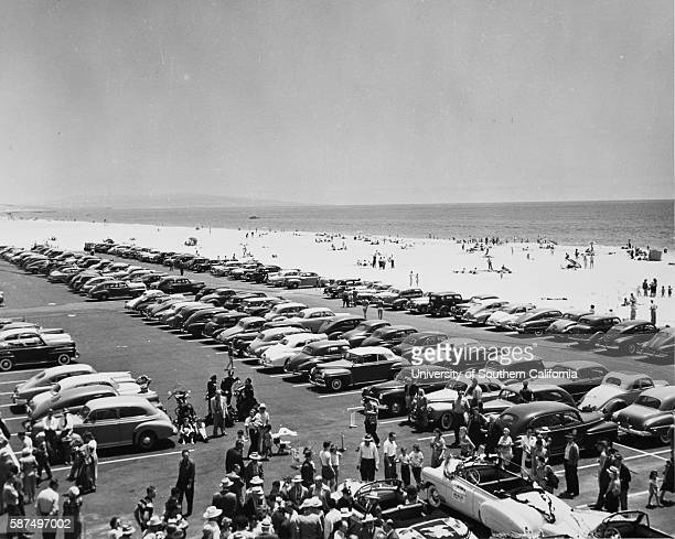 New parking lot at Venice beach Venice CA 'Now that typically Southern California summer weather is here scenes such as the one pictures above are an...