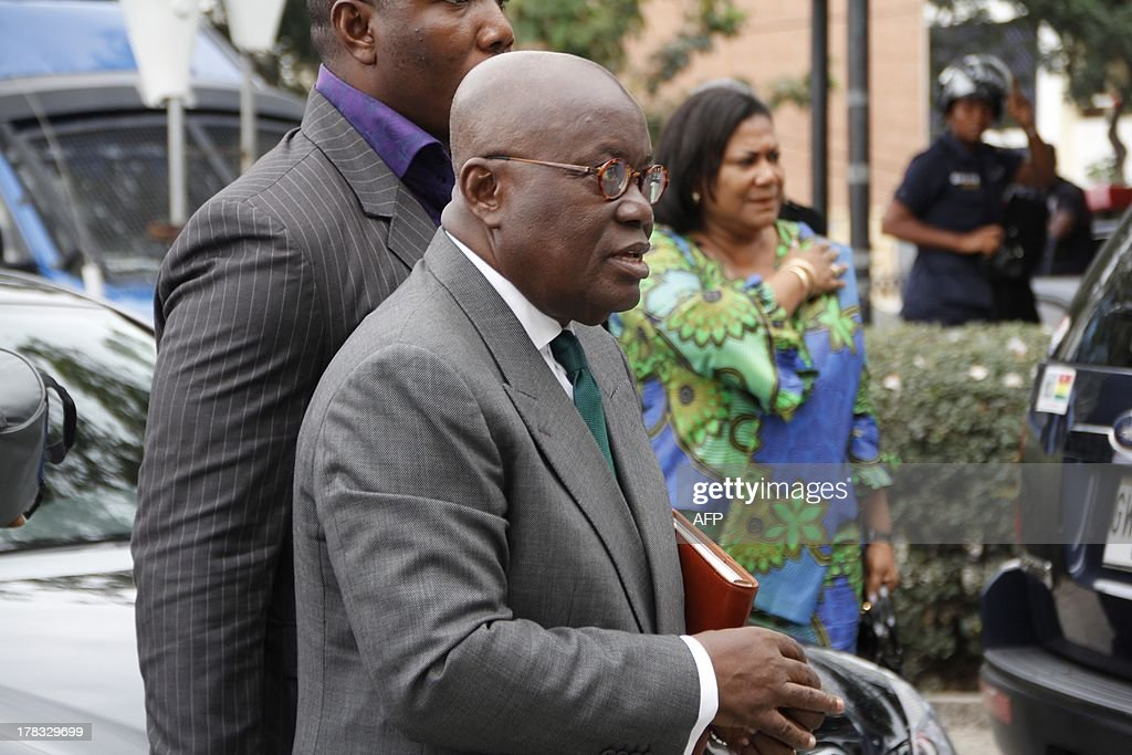 New Patriotic Party presidential candidate Nana AkufoAddo walks into Ghana's supreme court to hear the outcome of his challenge to President John...