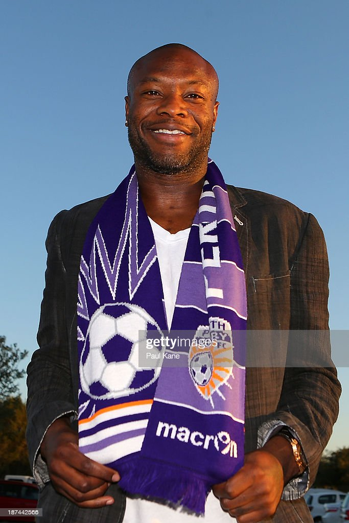 New Perth Glory A-League recruit William Gallas poses for a portrait after arriving at Perth International Airport on November 9, 2013 in Perth, Australia.