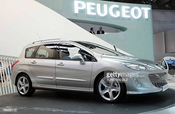 A new Peugeot 308 Prologue car is on display at the stand of French carmaker Peugeot during the press day for the 62nd International Motor Show 11...