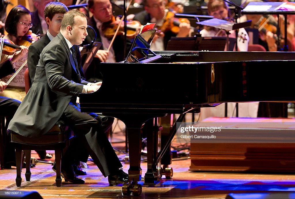 New Philadelphia Orchestra Music Director Yannick Nezet-Seguin performs during The Academy Of Music 156th Anniversary Concert And Ball at Academy of Music on January 26, 2013 in Philadelphia, Pennsylvania.