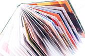 Photpbook.Open photo book. New photo books stack