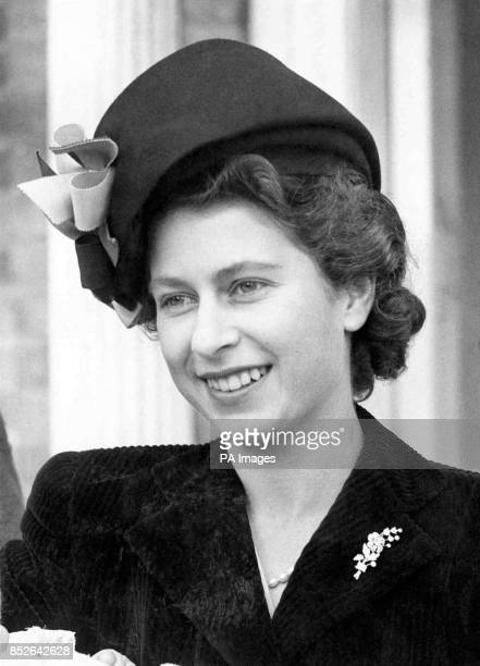 A new picture of HRH Princess Elizabeth preparations for whose wedding to Lieut Philip Mountbatten RN are proceeding apace Wearing a smartly cut suit...