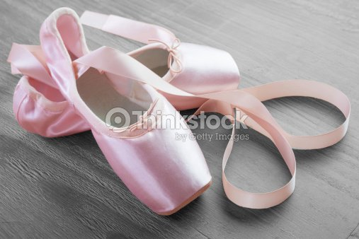 New Pink Ballet Pointe Shoes Stock Photo | Thinkstock
