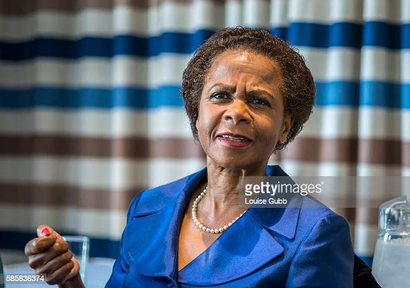Well known businesswoman and former executive of the World Bank Dr Mamphela Ramphele addresses the Foreign Correspondents Association in Johannesburg...