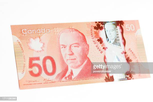 New Polymer Canadian Fifty Dollar Bill - Front