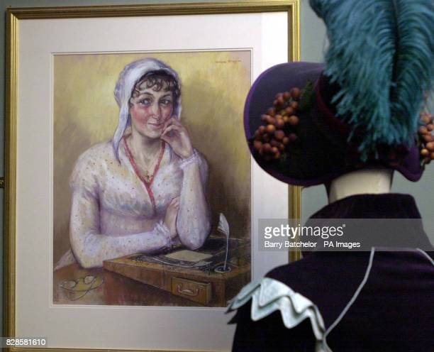 A new portrait of the author Jane Austen which hangs in the Jane Austen Centre in Bath and which has been described as the most realistic likeness...