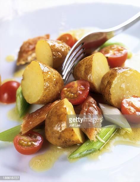 New potato & smoked mackerel salad