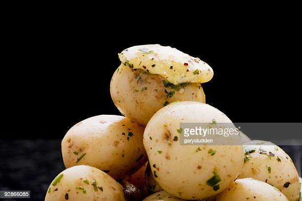 new potatoes with herb butter
