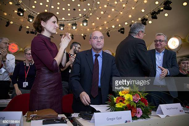 New President of the Party of the European Left Gregor Gysi reacts after his election during the 5th congress Party of the European Left in Berlin...