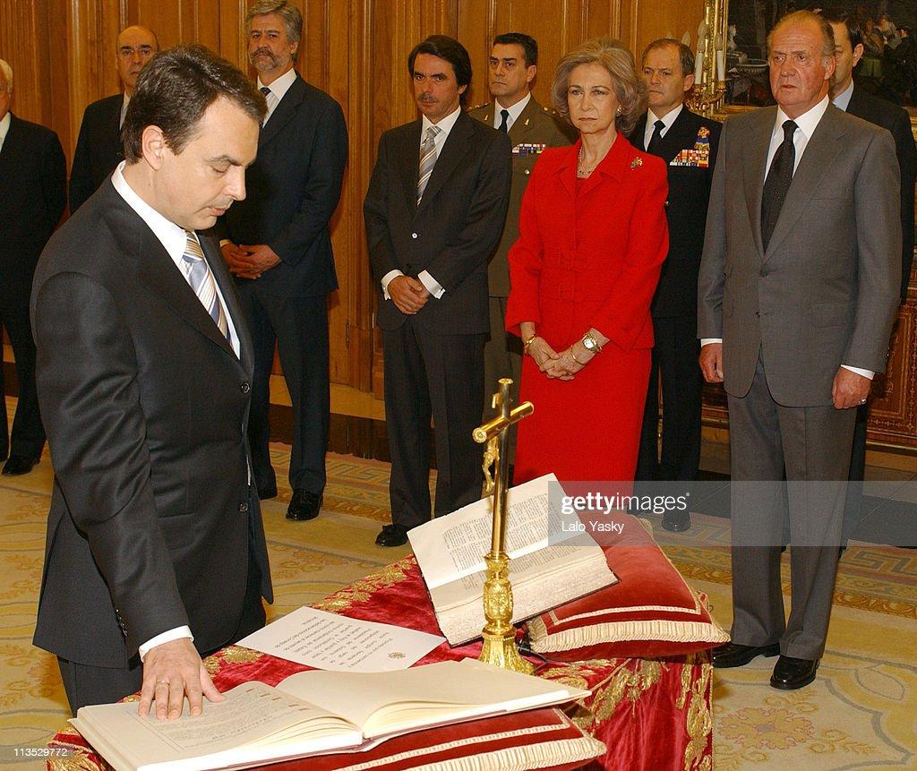 Jose Luis Rodriguez Zapatero Sworn in as New Spanish Prime Minister
