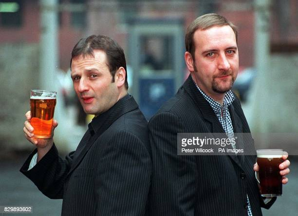 New Radio One Breakfast Show presenter Mark Radcliffe acts the lad as he shares an early pint with his sidekick Marc 'Lard' Riley in Manchester this...