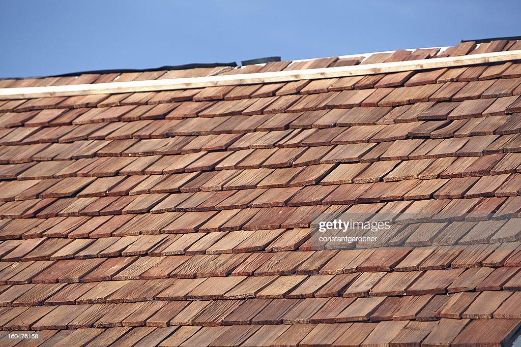 New Red Cedar Shake Roof : Stock Photo