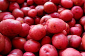 New red potatoes for sale in a farmers market