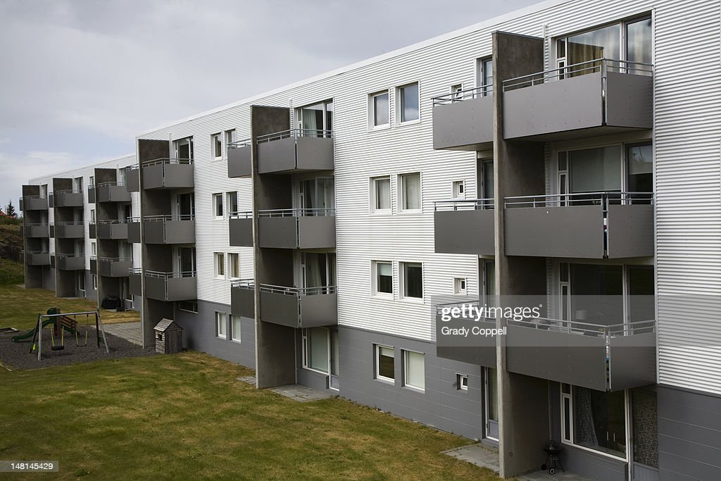 New residential development, Reykjavik : Stock Photo