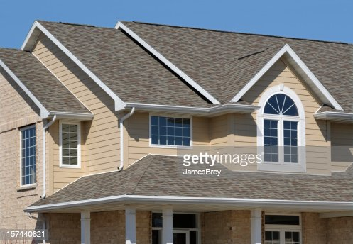 New Residential House Architectural Asphalt Shingle Roof