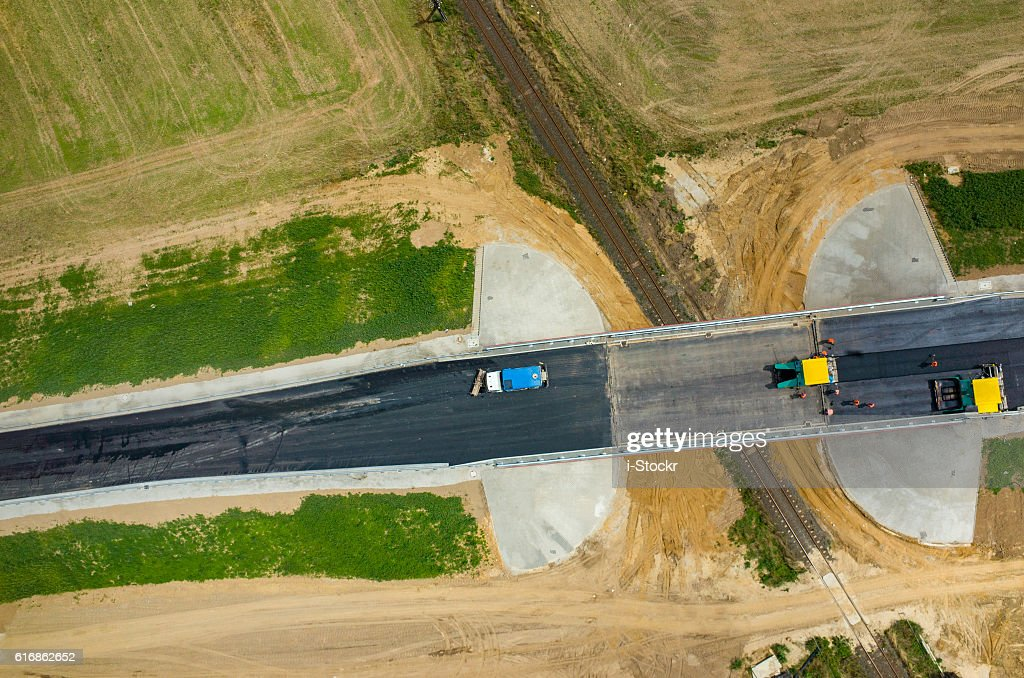 New road construction : Stock Photo