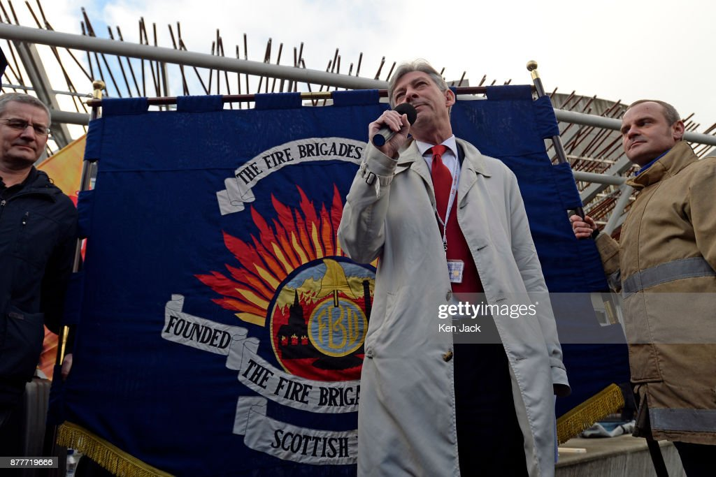 New Scottish Labour Leader Richard Leonard Addresses Fire Brigade Union Rally