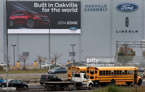 New sign on the outside of the Ford Plant October 1 2014 1000 new jobs at Oakville plant and what the ripple effect will be in parts suppliers sector