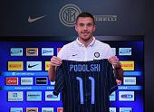 FC Internazionale Unveils New Signing Lukas Podolski