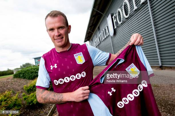New signing Glenn Whelan of Aston Villa poses for a picture at the club's training ground at Bodymoor Heath on July 20 2017 in Birmingham England