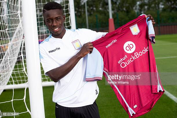 New signing Idrissa Gueye of Aston Villa poses for a picture at the club's training ground at Bodymoor Heath on July 20 2015 in Birmingham England