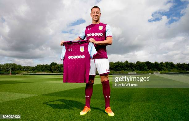 New signing John Terry of Aston Villa poses for a picture at the club's training ground at Bodymoor Heath on July 03 2017 in Birmingham England